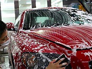 コーティング車の洗車画像