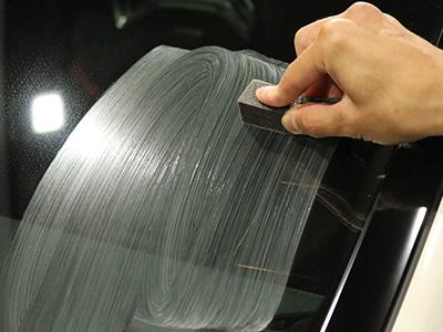 ガラス研磨剤の磨き画像