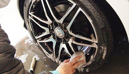 ホイールの洗車画像
