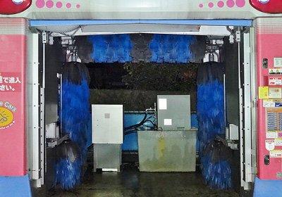 ガラスコーティング後の洗車機