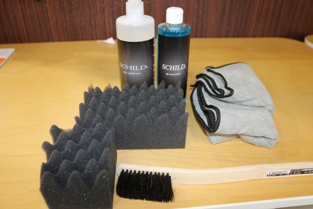 車の洗車で使用する道具