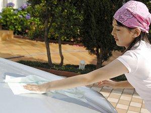 黄砂を一時的に予防するカーワックス